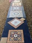 antique encaustic ceramic floor tiles