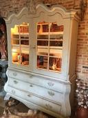 Antieke Hollandse kabinetkast vitrinekast – Antique Dutch cabinet window cup board