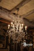 Antieke hanglamp, oude hanglamp – Antique hanging lamp, old hanging lamp