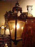 REF M M partly gild wood lantern H 85 cm
