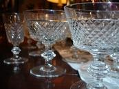 REF SC Set of ca 60 Cristal Glasses Val St Lambert