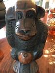 Monkey sculpure in wood