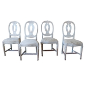 Set of Four Period Gustavian Chairs