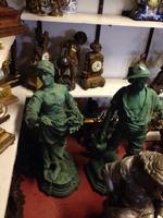2 spelter statues