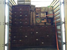 big Antique oak drawers unit