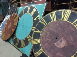 Antique clock faces on stock