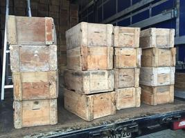 Industrial wooden boxes