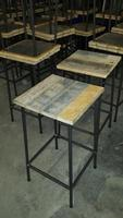 Reclaimed industrial stool New made