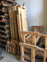 5 x wooden working bench from germany