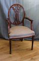 Mahogany chair with arms