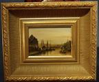 Small Dutch wood panel painting
