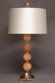 Single orange Satin Spar spheres table lamp