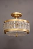 Single vintage ITALIAN semi flush ceiling lamp