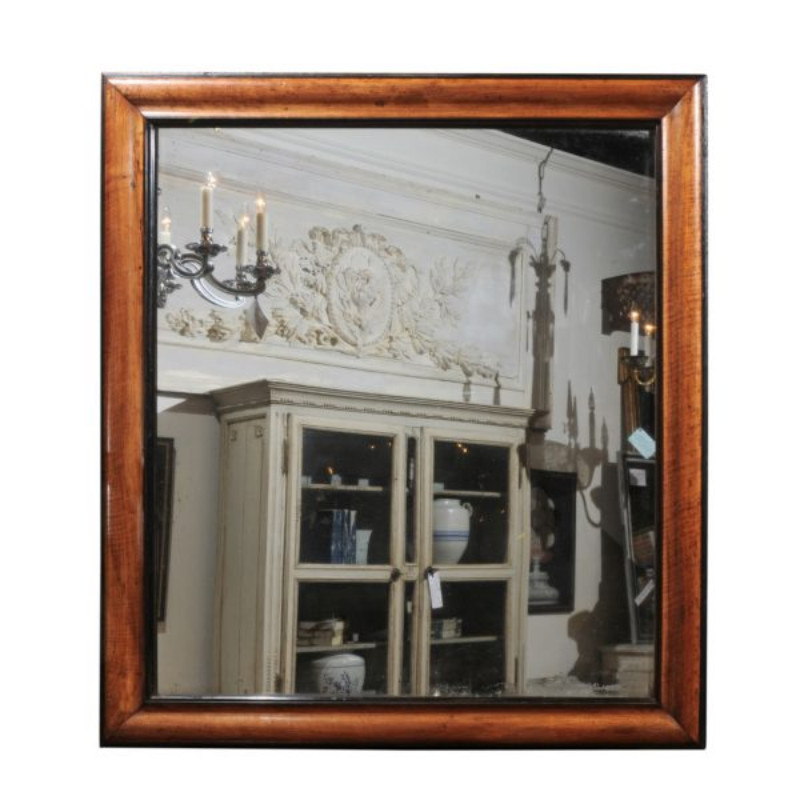 Louis Philippe Mirror Framed in Walnut