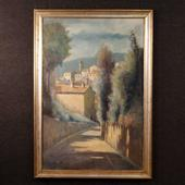 Italian landscape painting signed by Antonio Pani