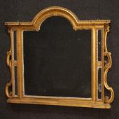Italian mirror in carved and gilded wood