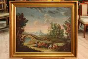 Antique Italian painting of the eighteenth century