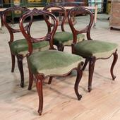 Group of English chairs of the nineteenth century