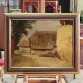 Painting oil on tablet signed Levolger dated 1929