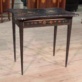 French coffee table in lacquered and painted chinoiserie wood of the 20th century