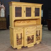 Eastern European sideboard in hand painted wood of the twentieth century