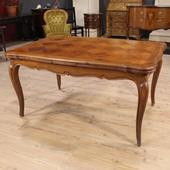 French extendable table in cherry wood of the twentieth century