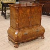 Dutch cupboard in briar root walnut of the twentieth century