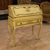 Venetian lacquered and painted bureau of the twentieth century