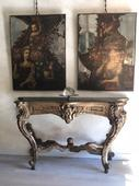 Beautiful console- Mecca guilded Louis XIV (158x55h95cm)