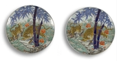 Pair of dishes JAPAN MEIJI Period 1868 1912