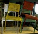 Kinderstoeltjes in metaal