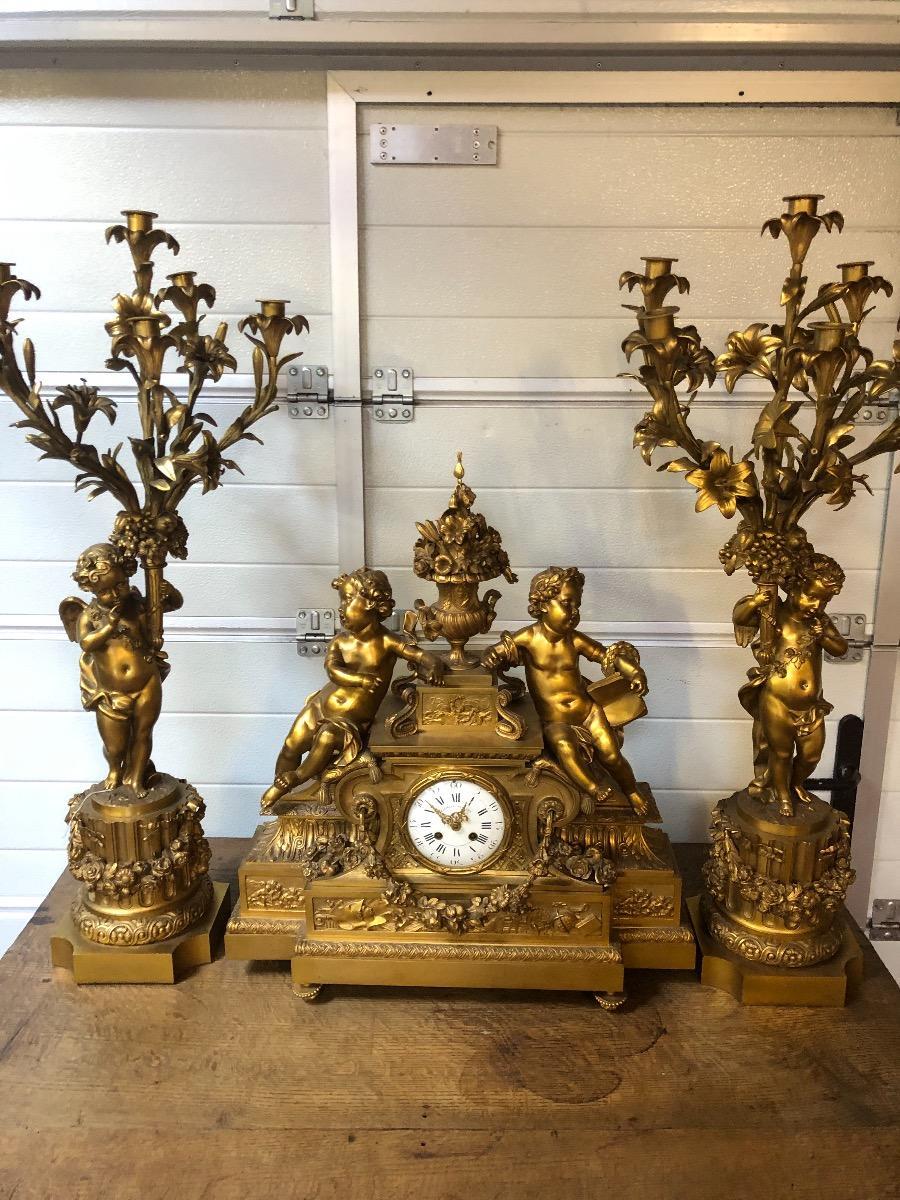 Bronzen Clock Set