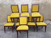 8 chaises acajou